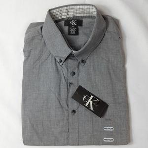 🎄🎁NWT Men's Calvin Klein Button Up Shirt Sz Med